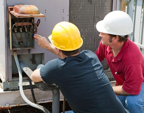 Technicians working